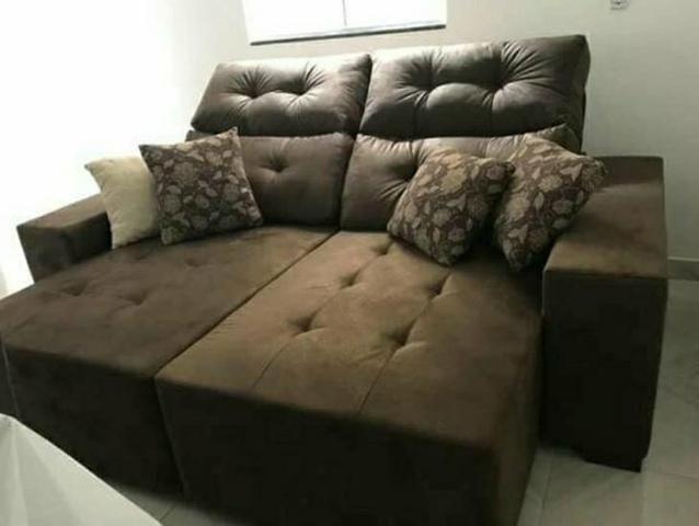Sofá reclinável de dois lugares