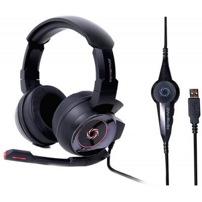 Headset Gamer AverMedia 7 1 Preto e Vermelho SonicWave GH337 PC PS4 Lacrado