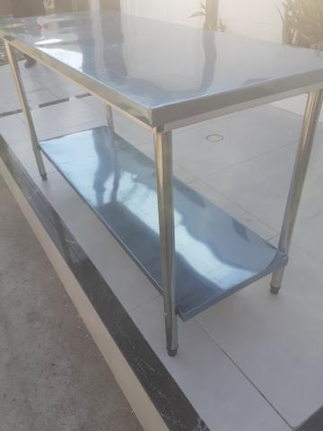 Mesa em aço inox a partir de r$ 600 - Foto 2