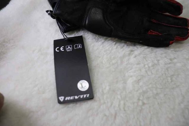 Luvas Rev'it - NOVA - tamanho M/G - L - Vermelho - Preto - Branco Em Couro - Foto 3