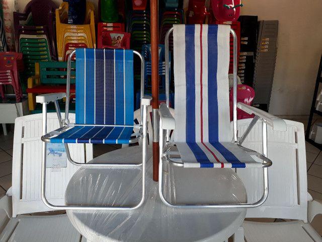 Cadeira de praia de alumínio