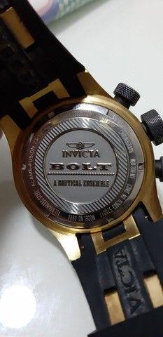 Relógio Invicta Bolt 0980 Masculino Banhado Ouro - Foto 5
