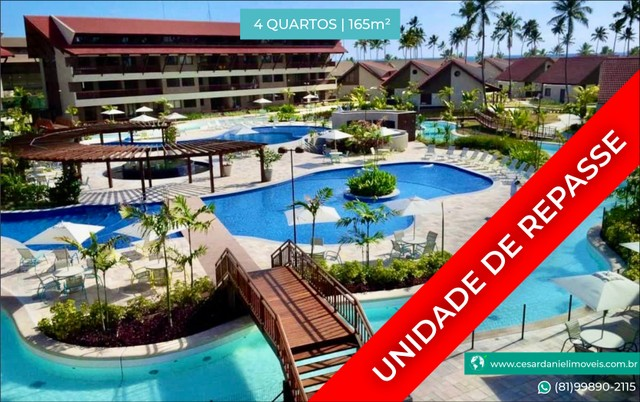 Oka Beach | Unidade de REPASSE para Investir | Mobiliado com 4 Quartos +165m²