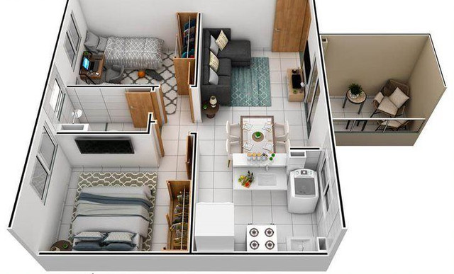 Vendo um excelente apartamento gom 02 qts, próximo a PONTA NEGRA - Foto 3
