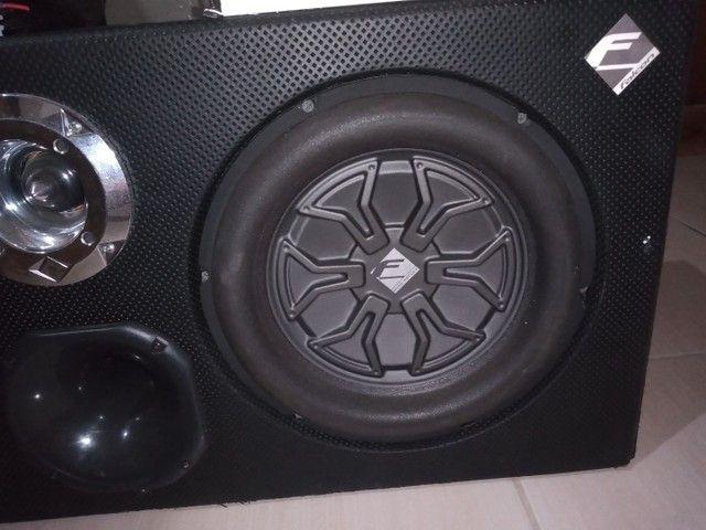 Caixa Sub com 2 falante de 12, 1 corneta e 1 twitter - Foto 3