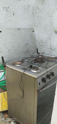 Vende um fogão de 5 bocas de inox pra reforma - Foto 3