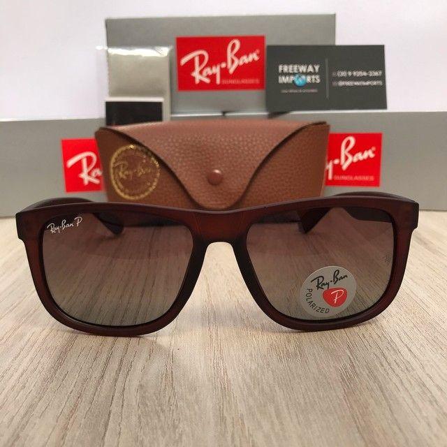 Óculos de sol Ray ban RB4165 marrom polarizado