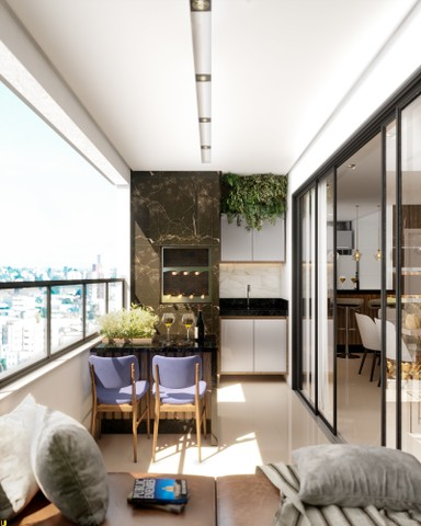 Apartamento com 3 quartos | 1 suíte e 2 semi-suítes | Varanda Gourmet | 2 vagas | Bairro F - Foto 7