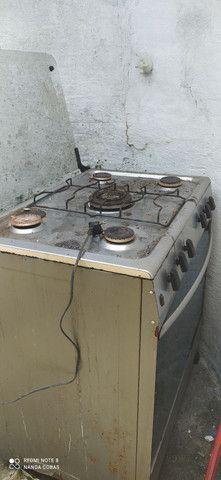 Vende um fogão de 5 bocas de inox pra reforma - Foto 4