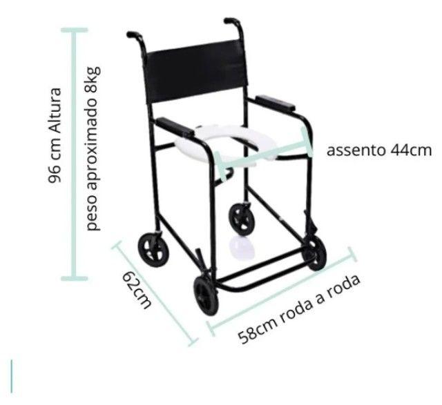 Cadeira de Banho Fixa Estrutura em Aço - Até 85KG - Foto 4