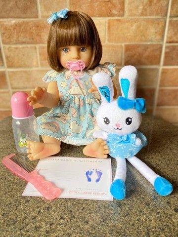 Bebê Reborn toda em Silicone realista olhos azuis nova Original (aceito cartão ) - Foto 2