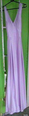 Vende-se Vestido c/ Decote V + barra original. - Foto 3