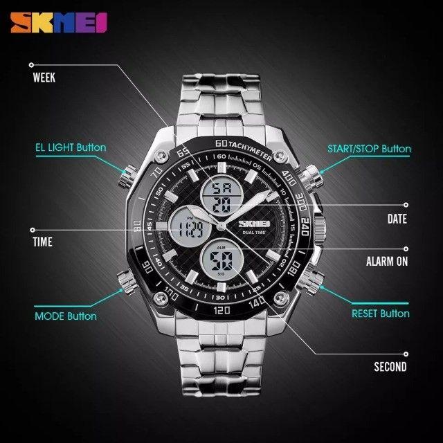 Relógio Masculino Skmei 1302 a Prova d'água Digital e Analógico - Foto 2