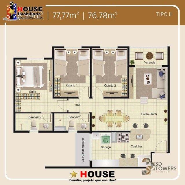 condomínio, 3D Towers_apto com suíte - Foto 9