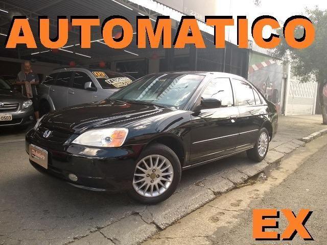Good Honda Civic EX Automatico Top Couro Oferta 2002 Confira