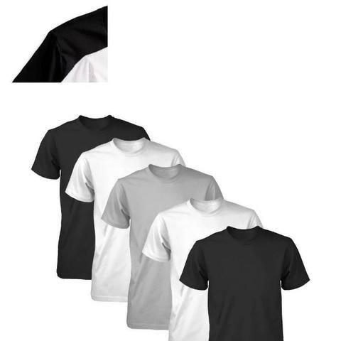 54a26addd Kit 10 Camiseta Masculina Lisa Camisa Básica 100% Algodão - Roupas e ...