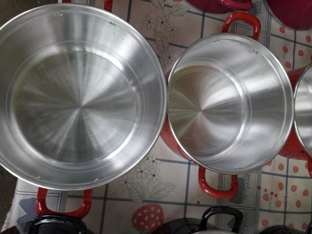 Kit de panela de alumínio - Foto 5