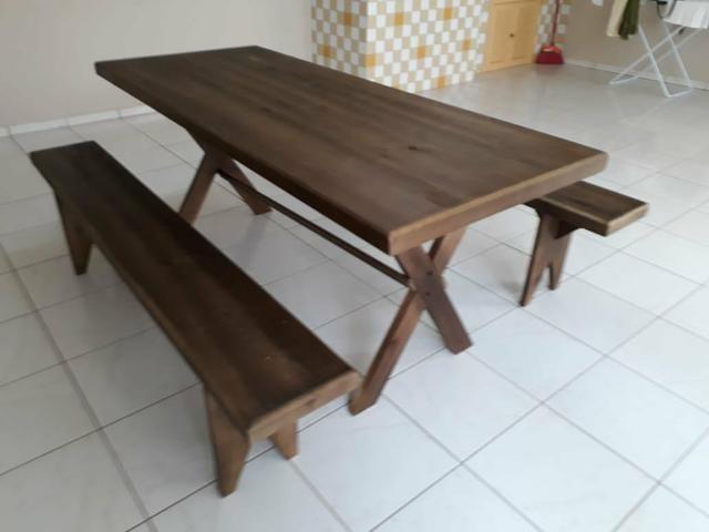 Mesa com bancos para churrasco - Foto 3