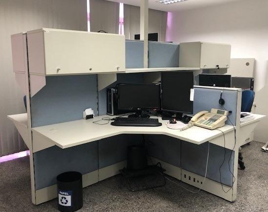 Estação / Baia de trabalho com 4 posições