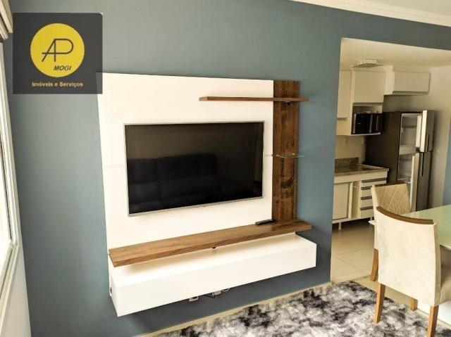 Apartamento com 1 dormitório para alugar, 46 m² - Centro Cívico - Mogi das Cruzes/SP - Foto 4