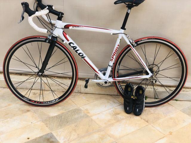 Oportunidade!!Speed Caloi sprint20 toda tiagra 20v tamanho 54 !bike extremamente nova !!! - Foto 2