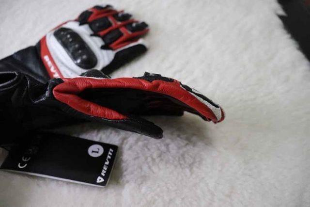 Luvas Rev'it - NOVA - tamanho M/G - L - Vermelho - Preto - Branco Em Couro - Foto 2