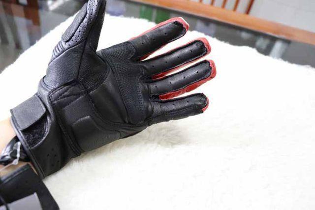 Luvas Rev'it - NOVA - tamanho M/G - L - Vermelho - Preto - Branco Em Couro - Foto 7
