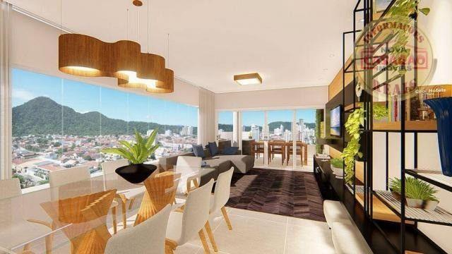 Apartamento com 2 dormitórios à venda, R$ 458.350,00 - Canto do Forte - Praia Grande - Foto 4