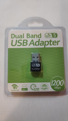 Adaptador Wi-Fi USB 2.0 Dual Band 1200mps