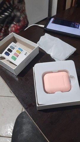 Fone de ouvido bluetooth i12 rosa - Foto 4