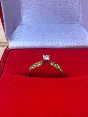 Anel solitário diamante  - Foto 2