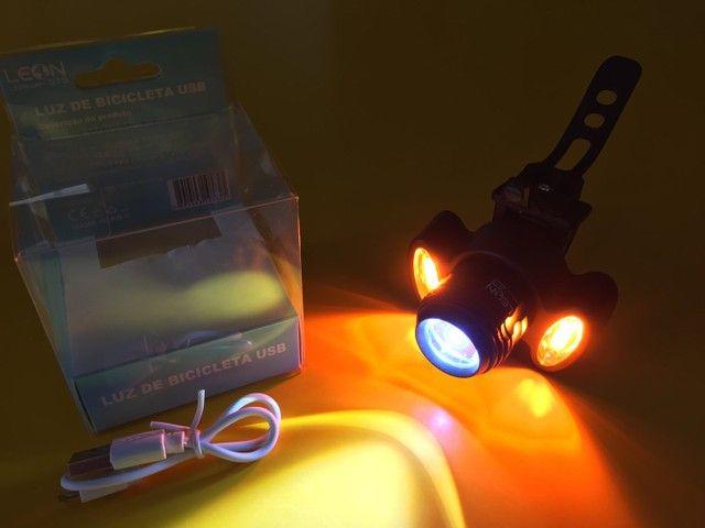 Lanterna Farol Led pisca Bike