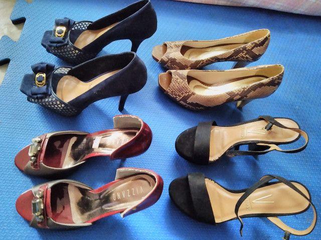 Sapatos feminino usadas