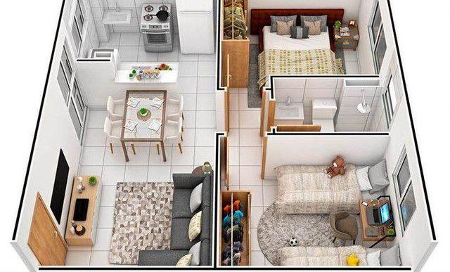 Vendo um excelente apartamento gom 02 qts, próximo a PONTA NEGRA - Foto 2