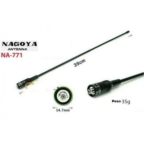 Antena Nagoya Ht Na-771 Sma-femea Para Ht Dual Band Vhf/uhf