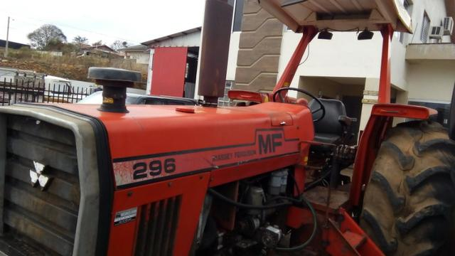 Trator agrícola MF 296 4x2 motor novo - Foto 4