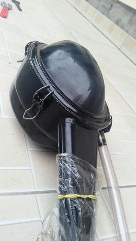 Filtro de ar e Escapamento originais do Fusca 1500