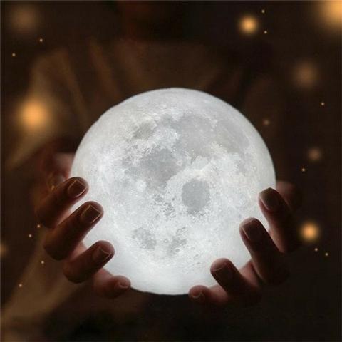 Luminária Lua Cheia 3d Usb Nfe-(Loja na Cohab) - Foto 3