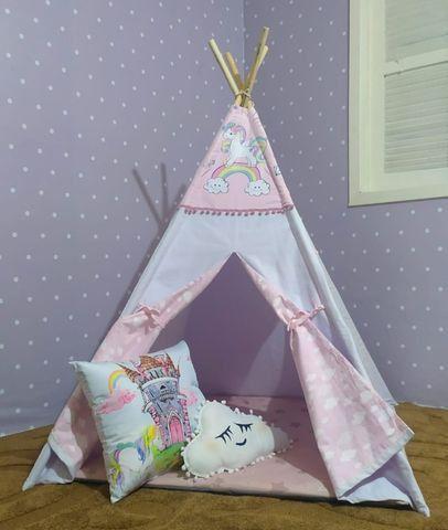 Cabana Infantil Barraca Tenda Com Colchonete Carrinho Novo - Foto 4