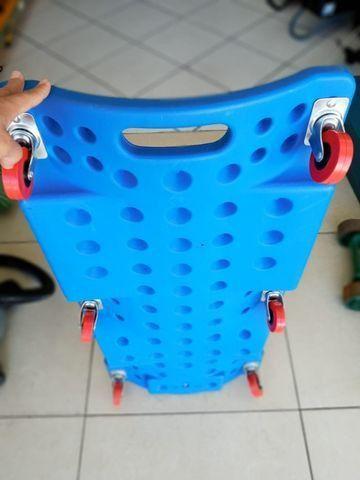 Esteira para mecanica 150kgs em plástico - 900mm cor azul - Foto 2