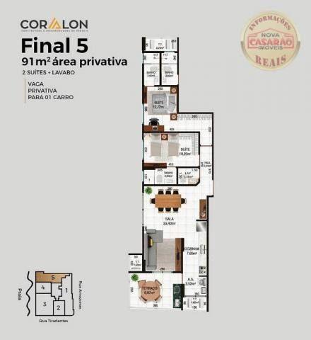 Apartamento com 2 dormitórios à venda, R$ 458.350,00 - Canto do Forte - Praia Grande - Foto 16