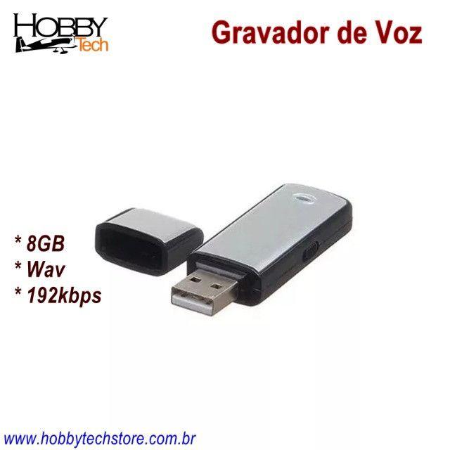 Gravador de Voz USB Pen Drive 8GB SK-858 - Novo - Foto 2
