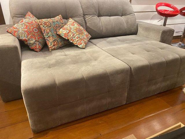 Sofá seminovo com chaise - Foto 3