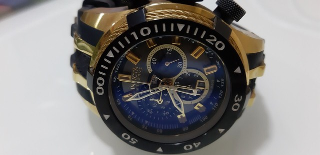 Relógio Invicta Bolt 0980 Masculino Banhado Ouro - Foto 4