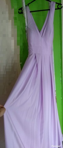 Vende-se Vestido c/ Decote V + barra original. - Foto 2