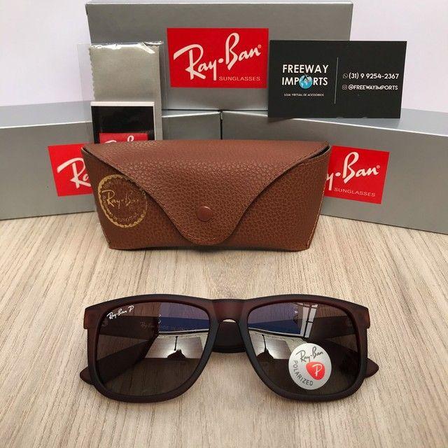 Óculos de sol Ray ban RB4165 marrom polarizado  - Foto 6