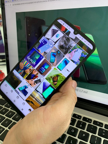 Moto g8 Plus Safira 64GB na caixa com nota fiscal  - Foto 3