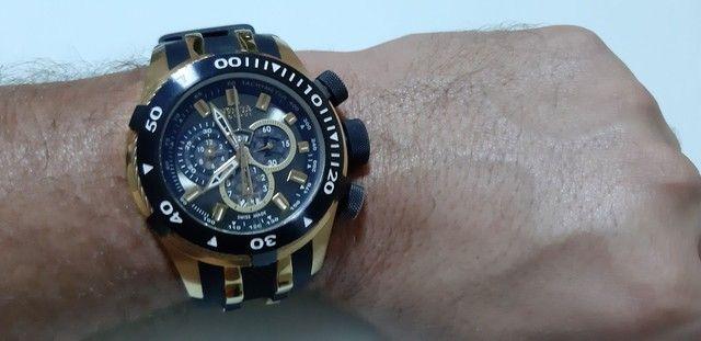 Relógio Invicta Bolt 0980 Masculino Banhado Ouro - Foto 2