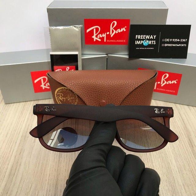 Óculos de sol Ray ban RB4165 marrom polarizado  - Foto 3