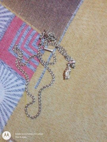 Vendo cordão de prata banhado a ouro e um fone redmi Air drot